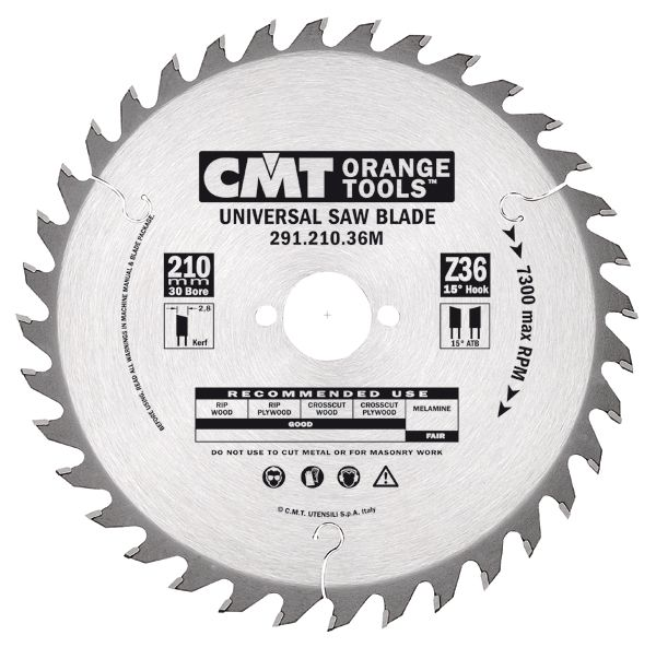 Negative Rake Blade 8-1/2in / 216mm x 48