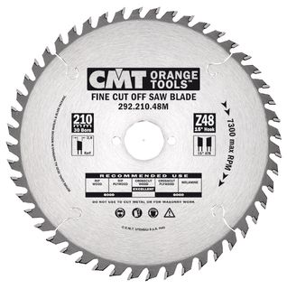Neg Rake Fine C/Off 216mm 64T 2.8Kerf