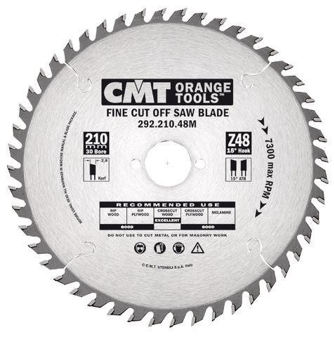 Neg Rake Fine C/Off 216mm 64T 2.8Kerf