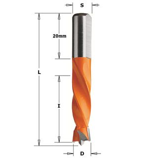 Dowel Drill LH 10.0mm Dia x 30mm Cut