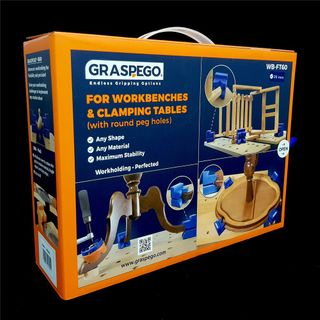 Graspego Clamp Heads for Dog Hole Mounting 20mm Shank - Pack of 4 Heads