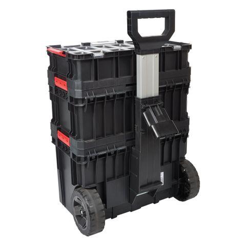 Modular Storage Compact Cart Set 3pc