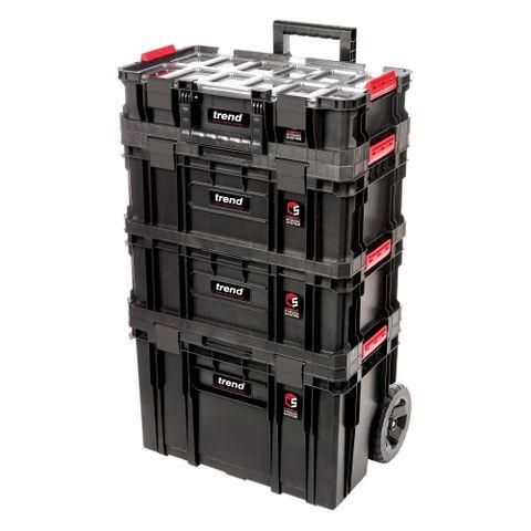 Modular Storage Compact Cart Set 4pc