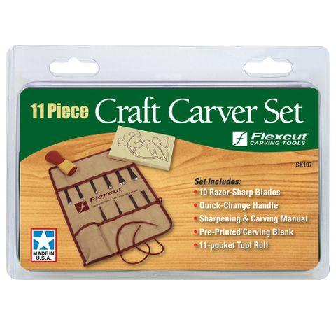 Flexcut 11 pce Craft Carver Set