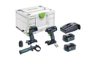 Festool TID 18 Impact Driver and PDC18 Drill 2 x batteries 1 x charger
