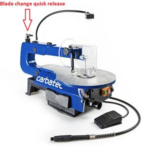 """Carbatec 16"""" Scroll Saw with Carving Attachment"""