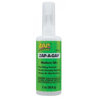 ZAP-A-GAP CA+ Medium Viscosity (2oz Bottle) Cyanoacrylate 'Super' Gl