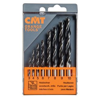 CMT Brad Point Wood Drill Set 3-10mm