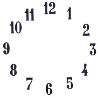 Clock Numbers Arabic 1 - Black