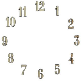 Clock Numbers Arabic 1-1/4 - Gold