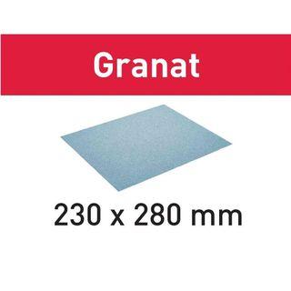 SANDPAPER SHEET 230x280 GR/50 P100