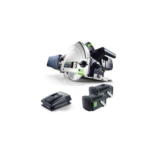 TSC 55 Cordless Saw, 2 Batteries (5.2Ah), 1400 rail and Charger