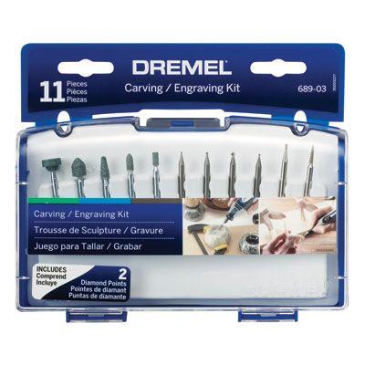 Dremel 11 pce Carving & Engraving Kit