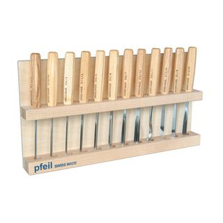Pfeil Carving Set 12pce Wooden Rack