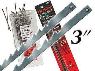"3"" Pinned Hobby Blades 18.5TPI 6pk"