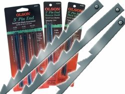 Assorted Reg/Skip Tooth Pin End Blades Pkt18