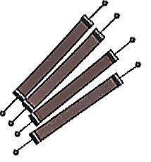 Scroll Sanders 1/2in Pinned (4) 80g Coar