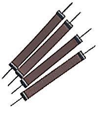 Scroll Sanders 1/2in Pinless (4)120g Med