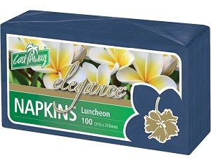 2ply DARK BLUE LUNCH NAPKINS  x100 (10)