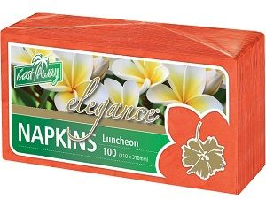2ply RED LUNCH NAPKIN x 100 (10)