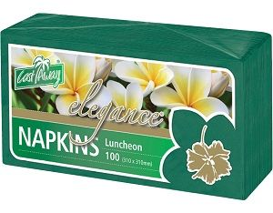 2ply PINE GREEN LUNCH NAPKIN x100 (10)