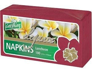 2ply WINE RED LUNCH NAPKIN x 100 (10)
