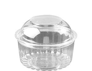 12oz FOOD BOWL HINGED DOME LID x 25 (10)