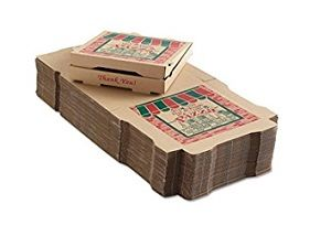 10in PIZZA CARTON BROWN FRESH PRINT x 100