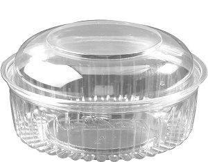 24oz FOOD BOWL HINGED DOME LID x 25 (6)