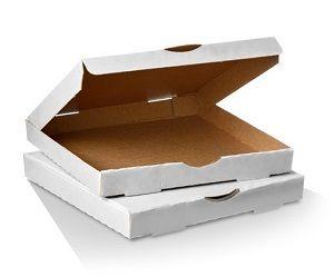 13in PIZZA CARTON WHITE x 50