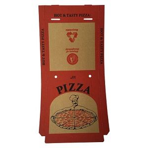 15in PIZZA CARTON BROWN FRESH PRINT x 50