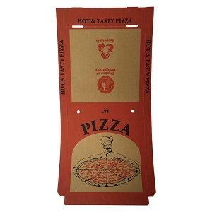 18in PIZZA CARTON BROWN FRESH PRINT x 50