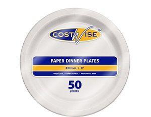 PAPER DINNER PLATE U/COATED U9P x 50 (10)