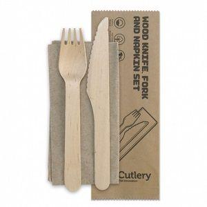 CUTLERY SET KNIFE FORK NAPKIN x 500