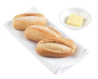 FULL BAKE DINNER ROLL WHITE SBAKE (9599) 160 x 35g