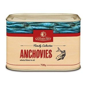 ANCHOVIE FILLETS SANDHURST GFREE x 720g  (12)