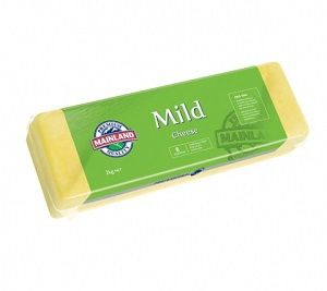 MILD BLOCK CHEESE GFREE MAINLAND x 2kg (6)
