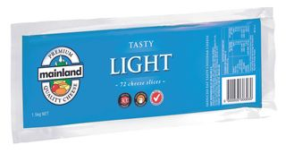 MAINLAND SLICED LIGHT TASTY CHEESE GFREE 1.5kg (8)