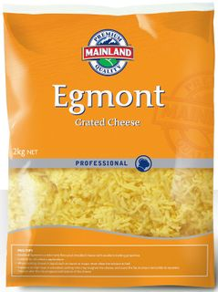EGMONT SHREDDED CHEESE MAINLAND GFREE x 2kg (6)