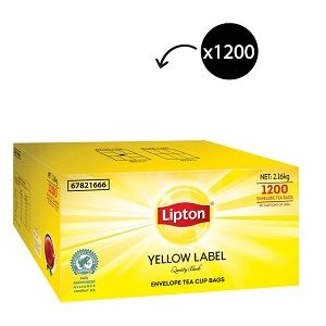 ENVELOPE TEA BAGS LIPTON YELL LABEL x 1200