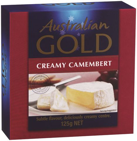 CAMEMBERT CHEESE AUSSIE GOLD x 115g (12)