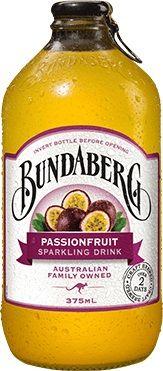 PASSIONFRUIT BUNDABERG DRINK 12 x 375ml