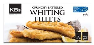 BATTERED WHITING FILLETS CRUNCHY KBS 145g x 30
