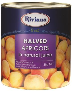 RIVIANA APRICOT HALVES NAT JUICE GFREE x 3kg (3)