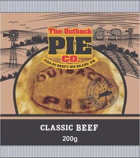 CLASSIC BEEF PIE OUTBACK 12 x 200g