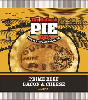 BEEF BACON CHEESE PIE OUTBACK 12 x 200g