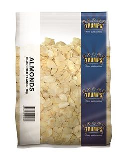 FLAKED ALMONDS BLANCHED TRUMPS x 1kg (10)