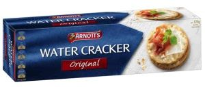 WATER CRACKERS ARNOTTS 20 x 125g