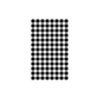 BLACK WHITE CHECK GINGHAM GPROOF PAPER x 200 (10)