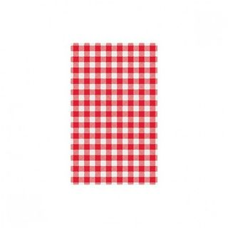 RED WHITE CHECK GINGHAM GPROOF PAPER x 200 (10)